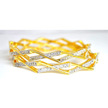 Criss Cross Diamond Bangles