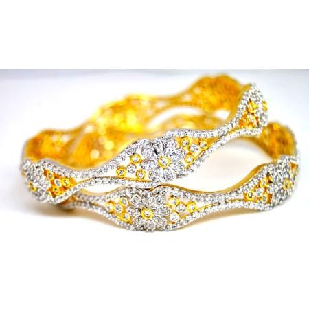 Ornate Diamond Bangles
