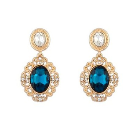 Lacework Gold Dangle Earrings
